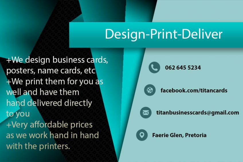 Titan Cards Graphic Design And Printingbest Prices Of Business